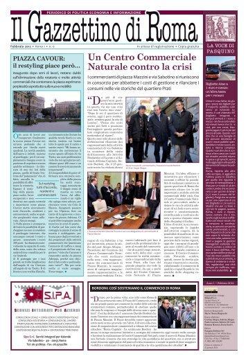 Un Centro Commerciale Naturale contro la crisi - Il Gazzettino di Roma
