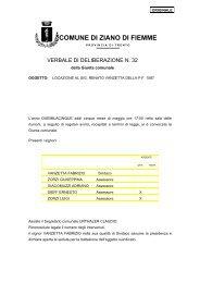 locazione al sig. renato vanzetta della pf 1087 - Comune di Ziano di ...