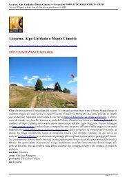 Locarno, Alpe Cardada e Monte Cimetta --- Created ... - Itinerari MTB