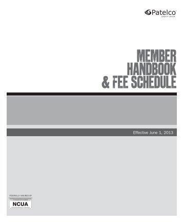member handbook & Fee Schedule - Patelco Credit Union