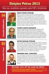 eleição petros 2013 - sindipetro es