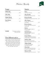 Pakistani Specialty - Bella Vita Ristorante Pizzeria Pakistanisch ...