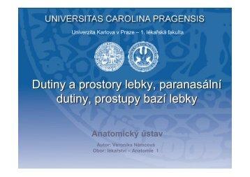 Ně - Anatomický ústav 1.LF UK - Univerzita Karlova