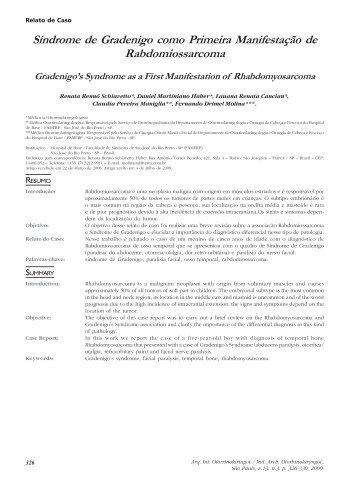 Síndrome de Gradenigo como Primeira Manifestação de ...