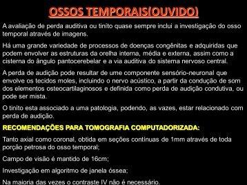 OSSOS TEMPORAIS(OUVIDO) - Comunidades