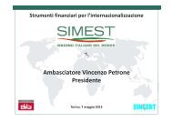 Vincenzo Petrone – Presidente di SIMEST - Anfia