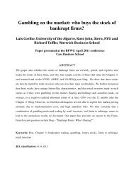 Gambling on the market - Cass Business School