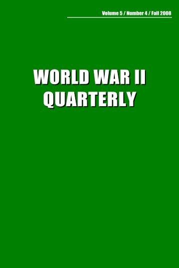 WORLD WAR II QUARTERLY - Hawaii Pacific University
