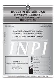 BOLETIN DE MARCAS - Instituto Nacional de la Propiedad Industrial