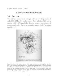 LARGE SCALE STRUCTURE 7.1 Overview The universe around us ...