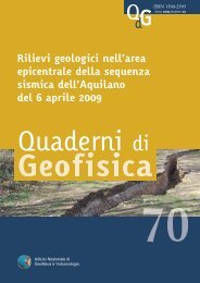 Rilievi geologici nell'area epicentrale della ... - L'Istituto - Ingv
