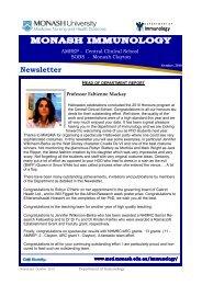 October Newsletter 2010 - Monash University