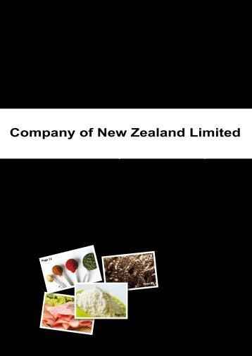 Company of New Zealand Limited