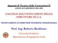 Stati Limite_SLU_Tensioni Tangenziali - Università degli Studi di ...