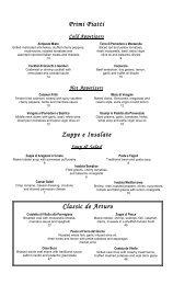 Classic de Arturo Primi Piatti Zuppe e Insalate