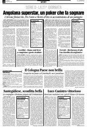 21/01/2008 Campionato 21a Giornata: Girone F - serie d news