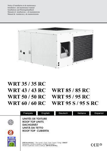 WRT 35 / 35 RC WRT 43 / 43 RC WRT 50 / 50 RC WRT ... - WESPER