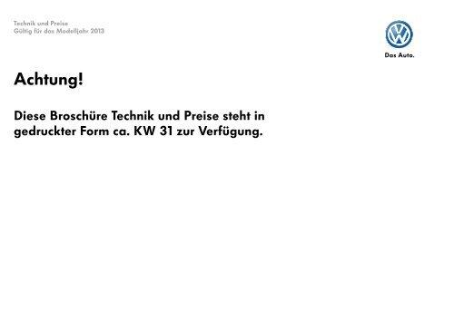 Preisliste Beetle Fender Edition (Technik und Preise) MJ2013 ...