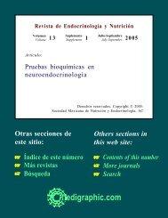 Pruebas bioquímicas en neuroendocrinología - edigraphic.com