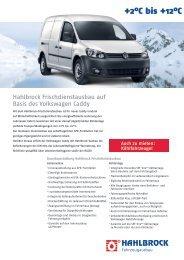 Hahlbrock Frischdienstausbau auf Basis des Volkswagen Caddy