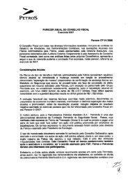 parecer anual do Conselho Fiscal - Petros