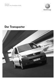 Preisliste Transporter Kastenwagen/Kombi