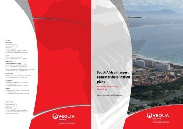 Mossel Bay Desalination - Veolia Water Solutions & Technologies ...