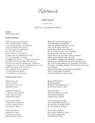 Bella Napoli translations - Tafelmusik
