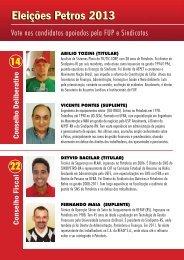Eleições Petros 2013 - SindiPetro..
