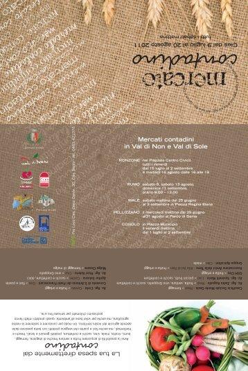 Mercato contadino 2011 - Val di Non