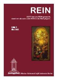 Edisi 1 - Mei 2002 - Gereja Reformed Injili Indonesia - Jerman