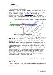 PALANCA 1.Definició i característiques Barra rígida que es pot ...