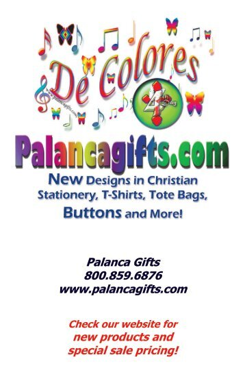 Palanca Gifts 800.859.6876 www.palancagifts.com new products ...