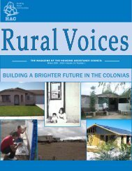 Building a Brighter Future in the Colonias - Housing Assistance ...