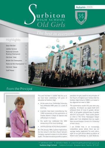 Old Girls' News - Surbiton High School