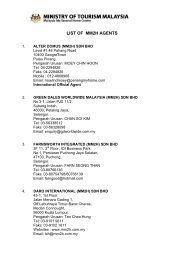 LIST OF MM2H AGENTS - Malaysia My Second Home