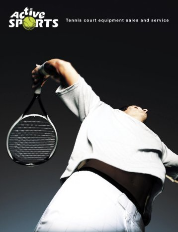 Tennis court equipment sales and service - Active Sports