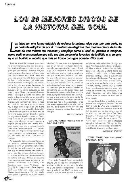 Los 20 mejores discos de la historia del soul (PDF ... - Dena Flows