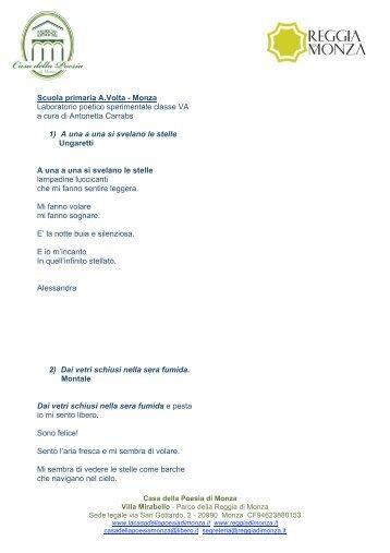 Progetto poetico Monza Scuola e Poesia copia - La Casa della ...