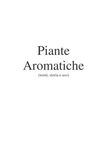 DIARIO AROMATICHE - Fiorista Mariangela