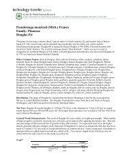 Pseudotsuga menziesii (Mirb.) Franco Family: Pinaceae Douglas Fir