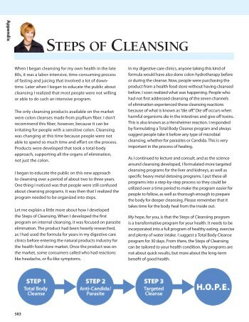 STEPS OF CLEANSING - Renewhope.org