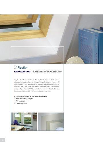 Satin LaibungsverkLeidung für Fensterleibunden - gibts bei www.decke-wand-boden.de