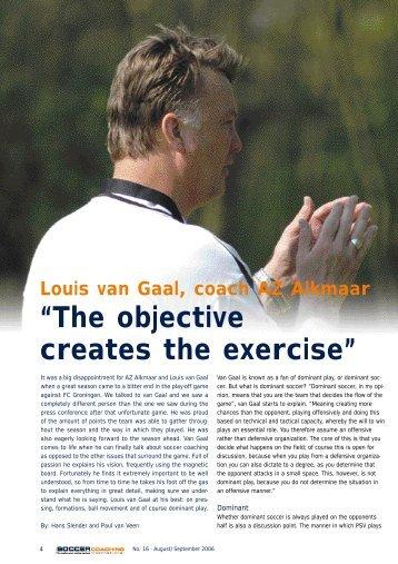 U19 Objective Creates the Exercise