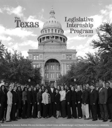 Legislative Internship Program - Senate
