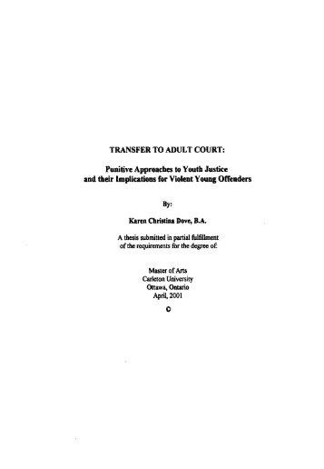 TRANSFER TO ADULT COURT - Bibliothèque et Archives Canada
