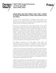 'CRAFT PUNK' Design Performances /22/23/24 April ... - Raw Edges