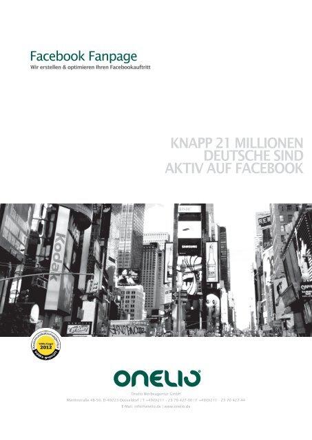 Informationen zur Facebook Fanpage - Onelio Werbeagentur ...