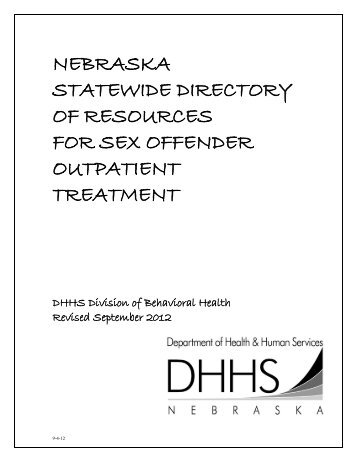 Sex offender treatment provider directory