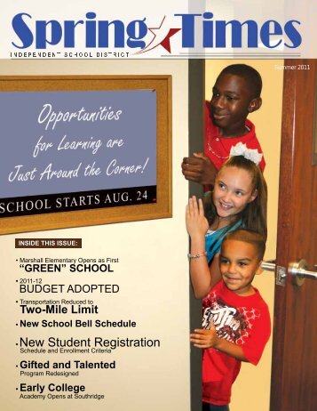 Summer 2011 (PDF) - Spring Independent School District